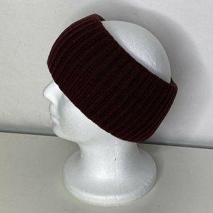 AllSaints Cardigan Stitch Knit Women's Traveling Headband Maroon One Size NWOT